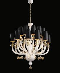 modern murano chandelier white glass gold lampshades dmmadml20k