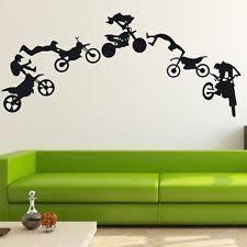 motocross motor dirt bike wall decal decor home vinyl sticker art mural 48 on dirt bike wall art with dirt bike decor ebay