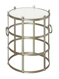 round gold metal frame marble top table to enlarge