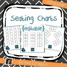 Seating Charts Editable Back To School Seating Chart