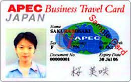 Apec Business Travel Card Japanese Nusa7 Franchise Travel