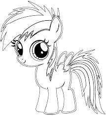 Before saving you have to color your coloring page. Rainbow Dash Baby Coloring Pages Coloring4free Coloring4free Com
