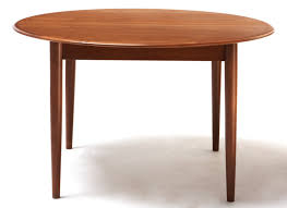 round teak danish modern dining table with leaves 7