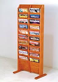 magazine rack office. get quotations wooden mallet mr20fs magazine rack office