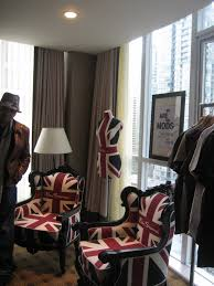 union jack chairs made custom for ben sherman s also placed in the ben sherman