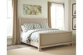 Demarlos Queen Upholstered Bed | Ashley Furniture HomeStore