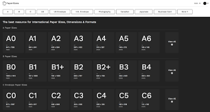 European Paper Size Chart A One Stop Guide To Every Paper Size Youd Need To Know