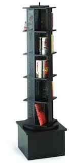 Single Book Display Stand MARLINE Metal Rotor Stand with wood base 64