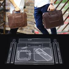 <b>10pcs</b>/Set Briefcase <b>Handbag</b> Acrylic Template Pattern <b>DIY</b> Leather ...