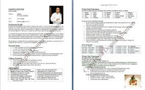 Personal Chef Resume Adorable Cv Examples Uk Chef