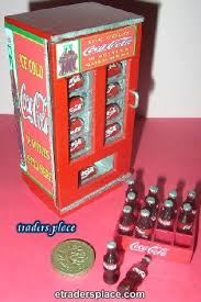 Retro Vending Machine Vol 1 Classy Dollhouse Miniature 48s Coke Retro Vending Machine Etradersplace