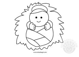 Gesù Bambino Da Colorare E Stampare Fredrotgans