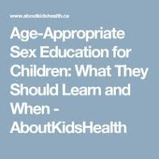 how to teach your kids about sex by ashley lebaron child  age appropriate sex education for children what they should learn and when aboutkidshealth