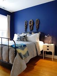 blue wall paint bedroom. Perfect Blue 20 Bold U0026 Beautiful Blue Wall Paint Colors Benjamin Moore Stunning In The  Master Bedroom Of Brian Bradu0027s Artfully Modern Apartment Inside Bedroom U