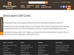 Gloria Jean's   Gift Card Balance Check   Balance Enquiry, Links ...