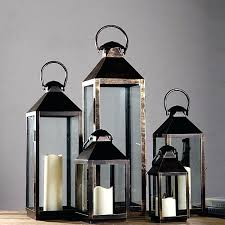 glass lantern candle holder outdoor lanterns for candles wrought iron glass vintage large floor windproof yard