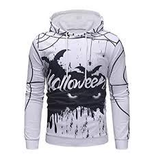 Ostely Mens Hoodie Halloween Printed Sweatshirt Hooded
