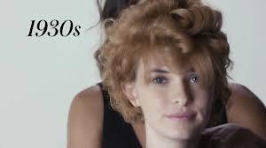 3分で過去100年に流行した前髪の歴史をサクッと見ることが可能な