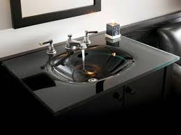 glass bathroom sinks. Utility Properties Of A Glass Sink \u2014 Black Bathroom Sinks