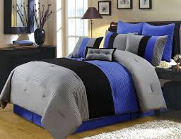 best blue and grey comforter sets