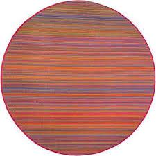 cancun indoor outdoor multicolor 8 ft round area rug