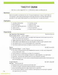 Internship Resume Template Best Of Resume Inspirational Resume
