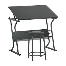 Studio Designs Eclipse Craft Center In Black Black 13365 2 Piece Eclipse Drawing Table With Stool Set In Black Item