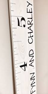 White Washed Rustic Stained Kids Measuring Growth Chart Ruler Stick Measurement Stick Kids Height Chart Nursery Baby Room Decor Baby Gift