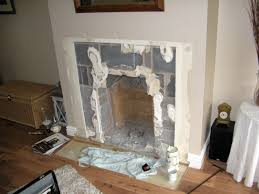 old fireplace removed ready for fireplace alterations