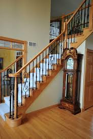wrought iron stair railings interior Staircase Traditional with none. Image  by: Jusalda custom stairs Inc