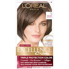 Loreal Hair Color Chart Prices Loreal Paris Excellence Creme Permanent Hair Color 5 Medium Brown 1 Count Kit 100 Gray Coverage Hair Dye