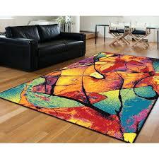 multi colored rugs rhapsody area rug striped bright multicolored