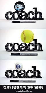 this decorative sportwords ready for team to autograph is a special gift for coach from the