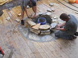 fire pit for wood deck best of fireplace on deck deck backyard ideas