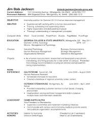 Best College Resume Magnificent Internship Resume Objective College Cool Hr Intern 48 Free Human