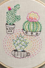 Cactus Embroidery Pattern New Design Inspiration