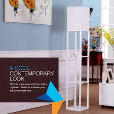 Mood Lighting Living Room Brightech Store Maxwell Usb Shelf Floor Lamp Modern Mood
