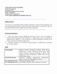 Software Testing Resume For 1 Year Experience Resume Online Builder