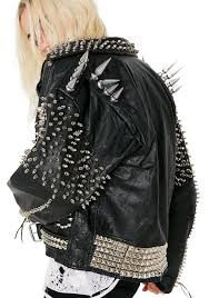 spike leather jacket