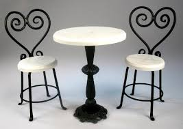 white wrought iron furniture. Impressive White Bistro Table And 2 Chairs J Getzan Dollhouse Miniatures Wrought Iron Tablesdollhouse Furniture