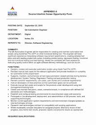 Automation Test Engineer Resume Examples Qa Samples Software Testing