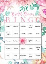 Wedding Bingo Words Floral Bridal Bingo Cards Printable Download Prefilled