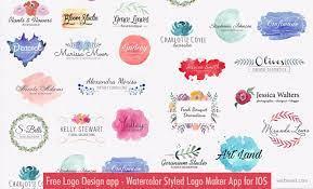 free logo design app watercolor