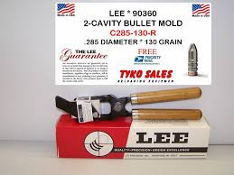 Lee Cast Bullet Mold Chart Lee 2 Cavity Mold C285 130 R With Handles 90360 7mm Gc