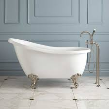 standard size of freestanding bathtub lovely ultra acrylic slipper clawfoot tub tubs acrylics and tiny housesstandard