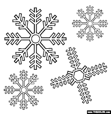 Small Picture Snowflakes Coloring Page Free Snowflakes Online Coloring