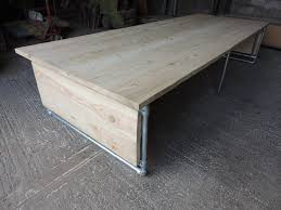 large office table. Large Industrial Scaffold Board Office Desk, Dining Table With Metal Pole Frame A