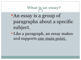 how to write a paragraph essay what is an