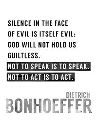Bonhoeffer Quotes Inspiration Silence In The FaceBonhoeffer Quote Typography Quotes Wall Etsy