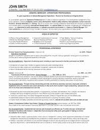 Assistant General Manager Resume Sample Awesome Hospitality Manager ...